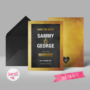 Black and Gold - Save the Date - Sarah Rosemary