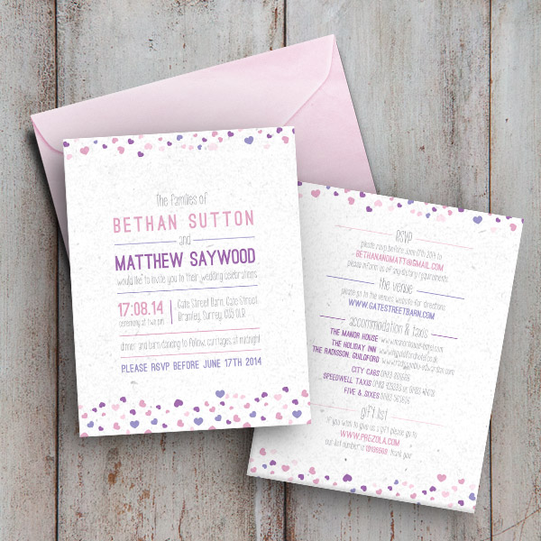 Hearts Collection - Invite - Sarah Rosemary