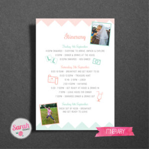 Zig Zag Hen Do Games Card - Sarah Rosemary