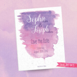 Watercolour Wedding - Save the Date - Sarah Rosemary