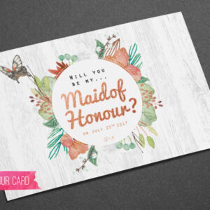 Maid of Honour - Card - Sarah Rosemary